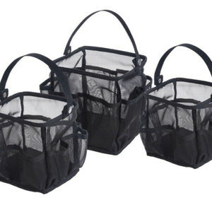 Set of 3 Black Carrying Caddies by Lori Greiner